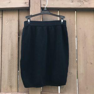 St. JOHN Basics SANTANA Knit Skirt BLACK sz 4